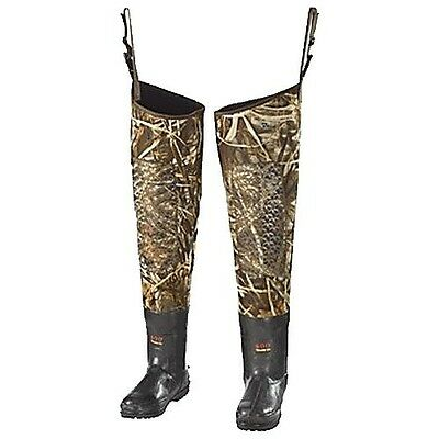 Duck Commander Waterfowl 4.0mm Neoprene Hip Wader Boots DAT-65009 Mens Size 9