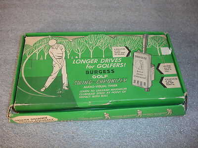 Old Vtg Burgess Golf Swing Chronizer Audio Visual Timer With Box & Paperwork