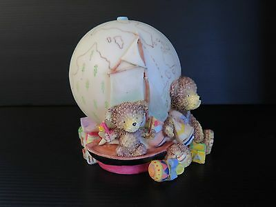 Teddy Bear And Globe Money Box