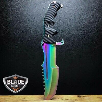COUNTER-STRIKE CSGO TITANIUM FADE HUNTSMAN KNIFE Hunting Bowie Survival CS:GO