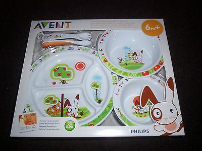 Philips Avent Toddler Mealtime Complete 5 Piece Feeding Set Suits Ages 6 Mnth +