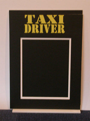 Taxi Driver double mounted photo picture mount