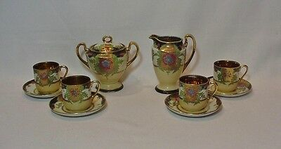 "10 piece Japanese Made in Japan Tea Set Marked ""Foreign""  early 1900s"