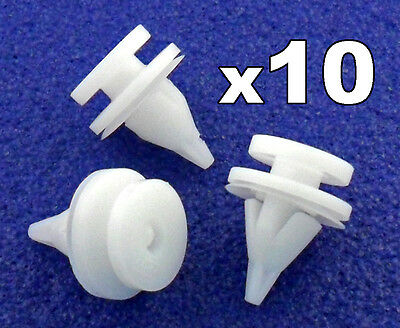 10x Plastic Door Card Clips- fits Renault Kangoo, Clio etc Door Trim Panel Clips