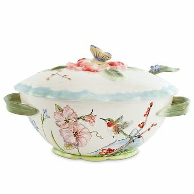NEW Fitz and Floyd Flourish 7.75-qt Tureen with Ladle