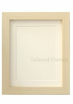 Light wood Picture  photo Frames with White and Black Mounts Maple Square design