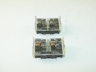 Allen Bradley 800T-XD4 One Ser D One Ser E Contact Block (Lot of 2) Used
