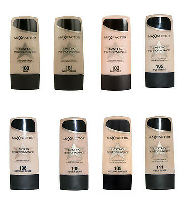 Fondotinta MAX FACTOR LASTING PERFORMANCE n°100,101,102,105,106,108,109,111 35ml