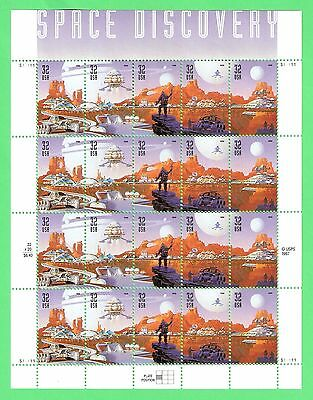 SCOTT #3238-3242 - MINT NH - SPACE DISCOVERY ISSUE - SHEET OF 20 STAMPS