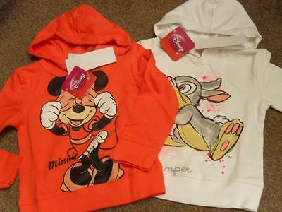 BNWT Disney Minnie Mouse or Thumper hooded long sleeved sweatshirt hoodie hoody