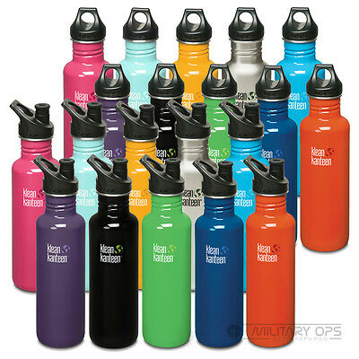 Klean Kanteen Classic 800Ml Metal Water Drink Bottle Stainless Steel