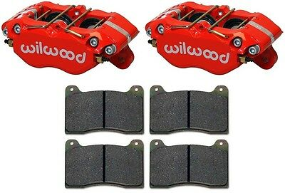 """Wilwood Dynapro Brake Calipers & Pads,w/ Dust Boots,red,dpdb,0.81"""" Discs,1.38"""""""