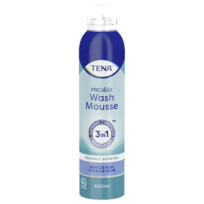 1x TENA Wash Mousse - 400ml - 3 in 1 Cleansing Body Wash