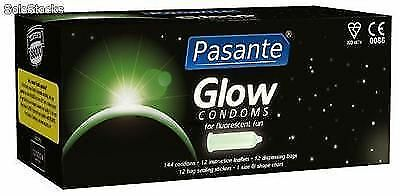Pasante Glow in the Dark Flourescent Condoms 24 Hr Discreet Postage *Cheap*