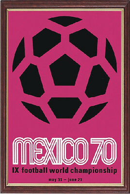 Mexico 1970 Official Fifa World Cup Poster - Framed