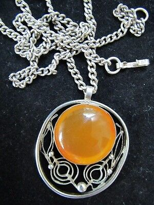"""Antique10"""" long amber necklace"""