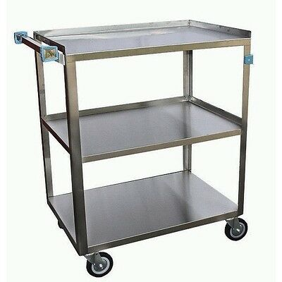 "Stainless Steel Utility Bus Cart 18""W x 29""L x 34""H. C-3222-02 NSF"