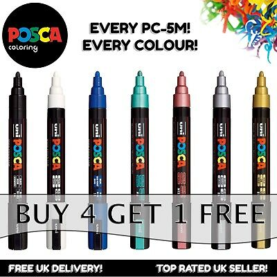 Uni Posca PC-5M Paint Marker Pens Fabric Glass Metal Pen - Buy 4, Pay For 3