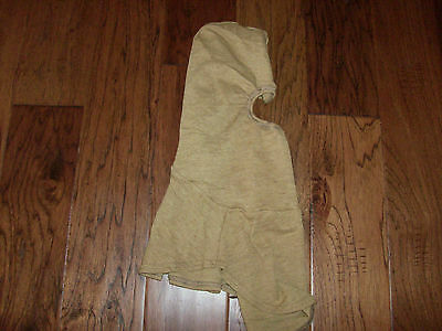 U.s Military Issue Pbi Anti Flash Protective Fireman Gold Hood