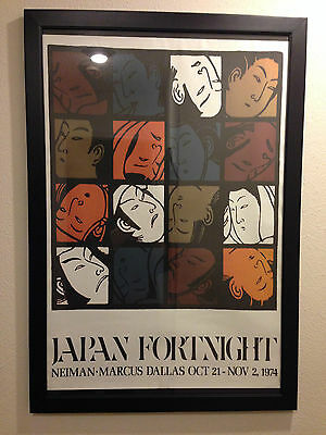 Vintage Rare Old Stock Neiman Marcus Fortnight Posters Japan