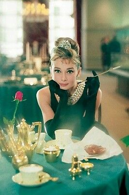 AUDREY HEPBURN ~ ROSE BREAKFAST AT TIFFANY'S 24x36 MOVIE POSTER NEW/ROLLED!