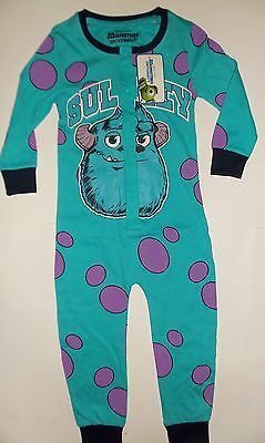 Monsters Inc (University) ALL IN ONE James P. Sullivan (Sully) Cotton Sleepsuit
