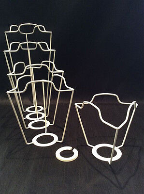 "UK & EURO LAMPSHADE 9"" FRAME CARRIER supports a shade with large duplex fitting"