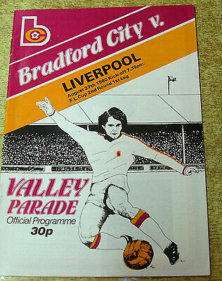 1980/81 LEAGUE CUP 2ND ROUND - BRADFORD CITY v LIVERPOOL