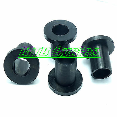 Pack of 20 BLACK Nylon Plastic Shoulder Sleeved Washers M4 M5 M6 and M8 - SALE