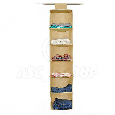 Wardrobe / Closet Tidy 6 Section Organiser Clothes Garments Shoes etc.
