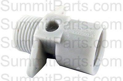 White Standard Thread Water Inlet Nipple For Wascomat Washers - 005604