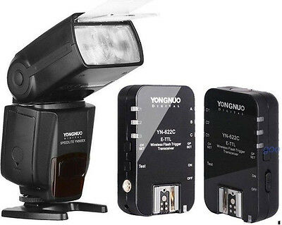 Yongnuo YN-565EX Flash Speedlite + E-TTL Trigger transceiver for Canon 5D 7D 60D