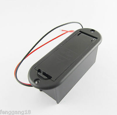 1x Black 9V Battery Case Holder Cover Box for Active Guitar Bass Pickups Preamps