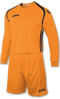 Joma Goalkeeper Kit Shirt&shorts,free Printed Name & Number Medium Adult Orange