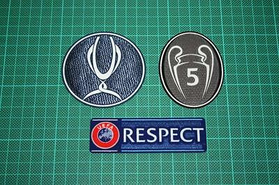 UEFA SUPER CUP and RESPECT BADGES 2013