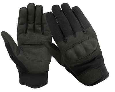 Tactical Fleece Lined Hard Knuckle Cold Weather Gloves  Military Police Airsoft