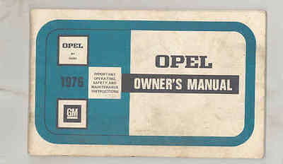 1976 Opel Isuzu ORIGINAL Owner's Manual fo1538