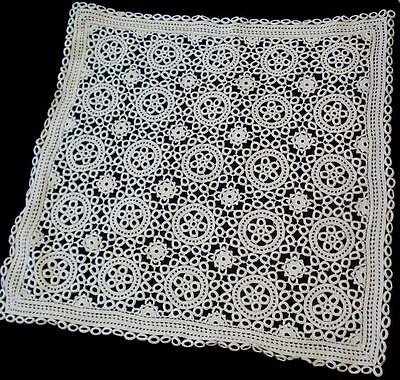 Vintage Hand Knitted Crochet Doily Table Cover