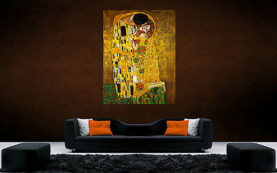 GUSTAV KLIMT THE KISS GIANT wall Art Poster A0,A1,A2,A3,A4 GKTK01