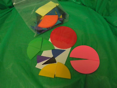 Deluxe Rainbow Fraction Circles- whole to 1/12's-75%off