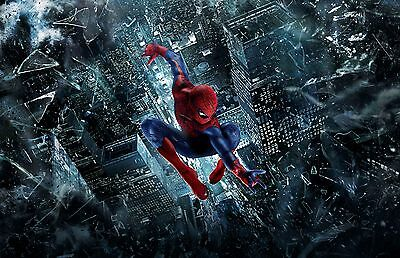 New The Amazing Spiderman Through City Movie Wall Art Print - Premium Poster