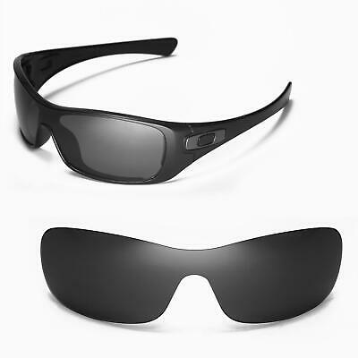 Walleva Black Replacement Lenses for Oakley Antix Sunglasses