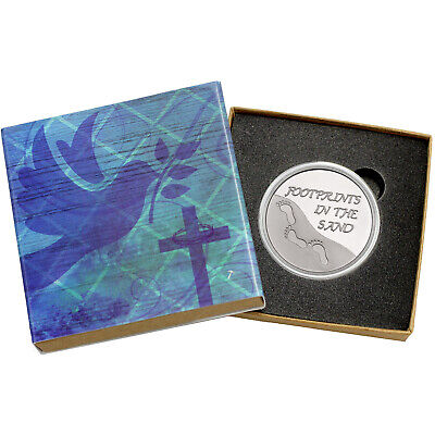 Footprints In The Sand 1oz .999 Fine Round (Religious Box)