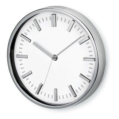 """9"""" WALL CLOCK - Large Analogue Modern Round Home Kitchen Office- WHITE Face"""