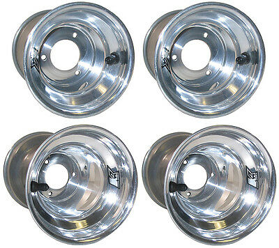 "Keizer Karting Aluminum Wheel Set For Dirt Karts & Q Midgets,6"",kw2,polish,champ"
