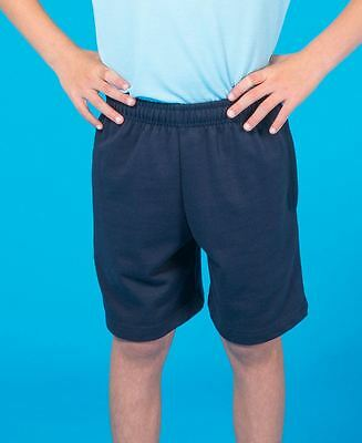 Kids & Adults Shorts Size 4 6 8 10 12 14 S M Navy School Sport New!