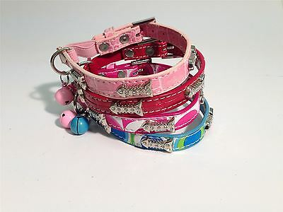 Cat Collar Deluxe With Fish Diamonds Pink/yellow/red/ Super Posh