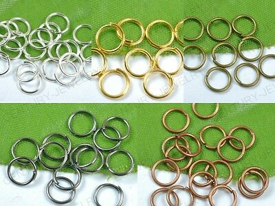 Jump Rings Open Connectors Jewelry Make Findings 4MM,5MM,6MM,7MM,8MM,9MM,10MM,