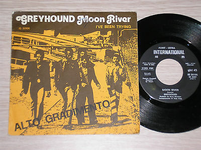 "Greyhound - Moon River / I've Been Trying - 45 Giri 7"" Italy"