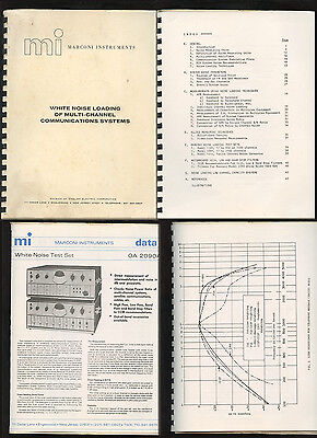 1964 Marconi OA 2090A White Noise Loading of Multi-Channel Comm Systems Manual